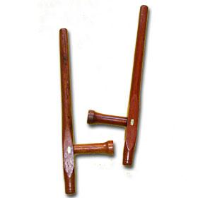 Tonfa, pari , punaista puuta, 51cm-0