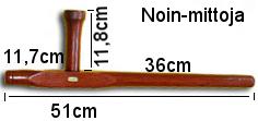 Tonfa, pari , punaista puuta, 51cm-319